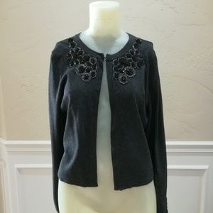 INC Concepts gray embellished cardigan